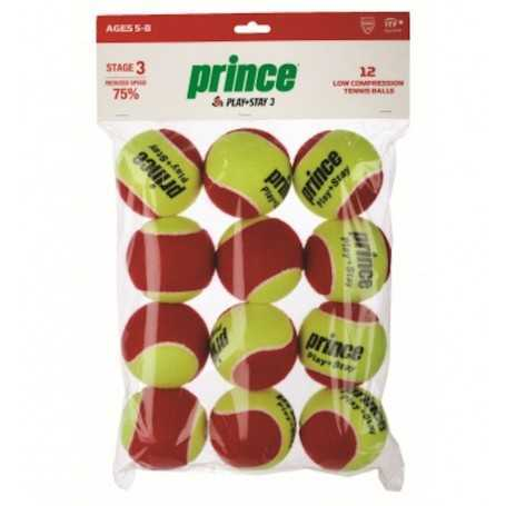 Prince Stage 3 Play&Stay Red 12 Ball Beutel
