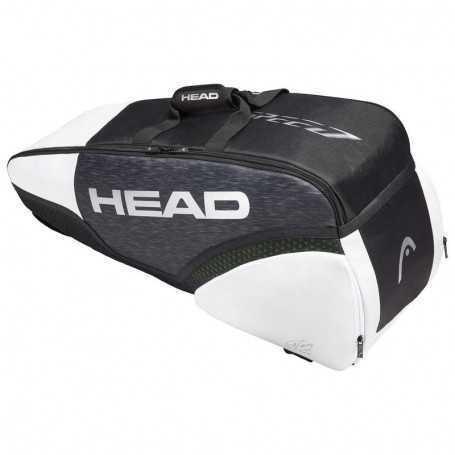 Head Djokovic Speed X6 Tennistasche schwarz-weiss