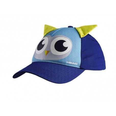 Head Cap Kids OWL blau-lightblue
