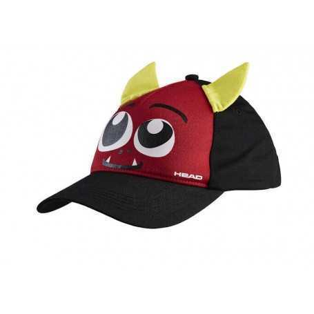 Head Cap Kids Monster schwarz-rot