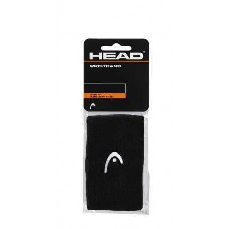 Head Schweissband mit Logo lang 2er schwarz