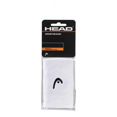 Head Schweissband mit Logo lang 2er weiss