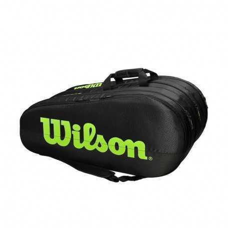 Wilson Team 3 Comp Tennistasche schwarz-grün