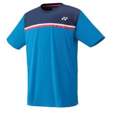 Yonex Herren Crew Neck T-Shirt blau-dunkelblau