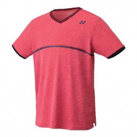 Yonex Herren Crew Neck T-Shirt rot mit schwarzem Logo