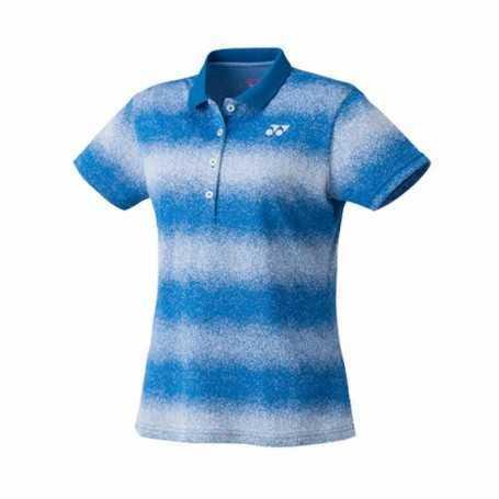 Yonex Damen Polo T-Shirt blau-weiss