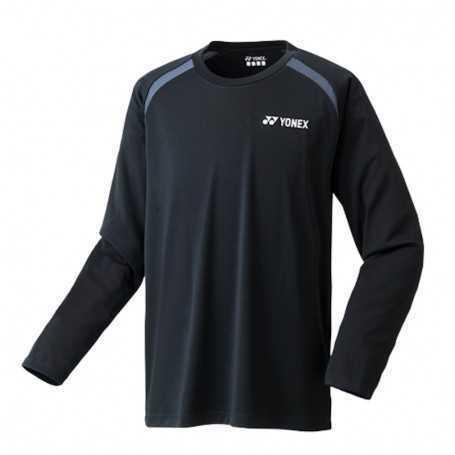 Yonex Herren Langarm T-Shirt schwarz-hellblau