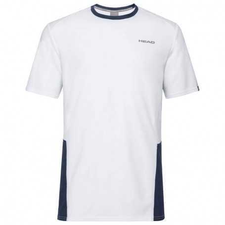 Head Club Tech T-Shirt Boys weiss-dunkelblau