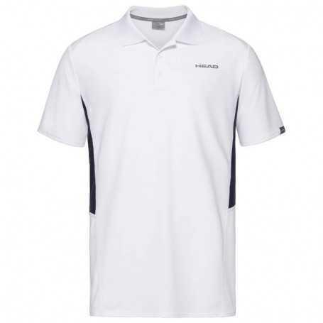 Head Club Tech Polo Shirt Boys weiss-dunkelblau