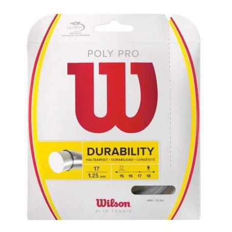 Wilson Poly Pro Set 12,20m 1,25mm silber Besaitungsset