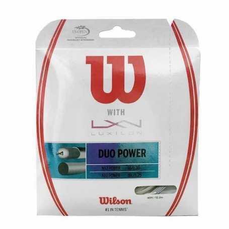 Wilson Duo Power ALU 1.25 & NXT 1.32 Set 12,20m silber-natural Besaitungsset