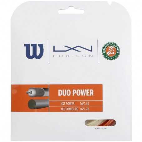 Wilson Duo Power Roland Garros Set 12,20m bronze-natural Besaitungsset
