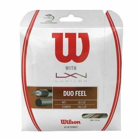 Wilson Duo Feel 1.25 & NXT 1.30 Set 12,20m bronze-natural Besaitungsset