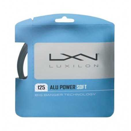 Luxilon Alu Power Soft Set 12,00m 1,25mm silber Besaitungsset