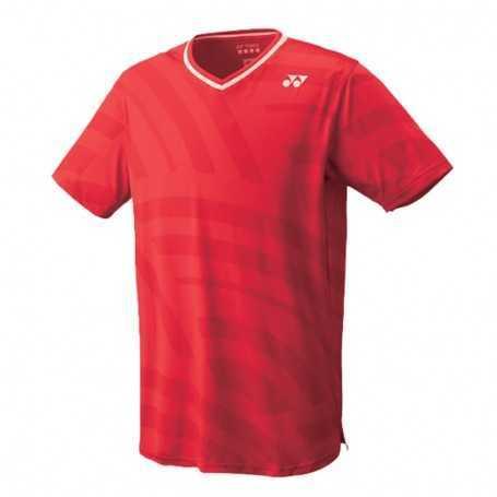 Yonex Herren Crew Neck T-Shirt rot-gestreift