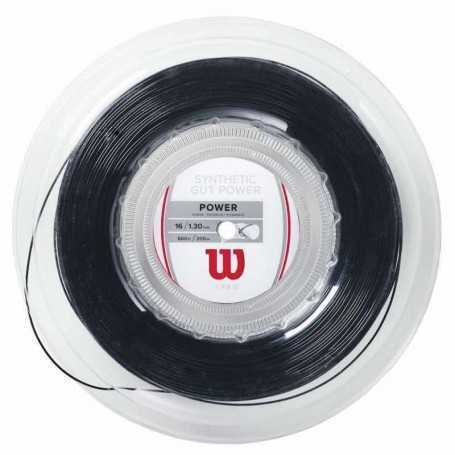 Wilson Synthetic Gut Power Rolle 200m 1,30mm schwarz