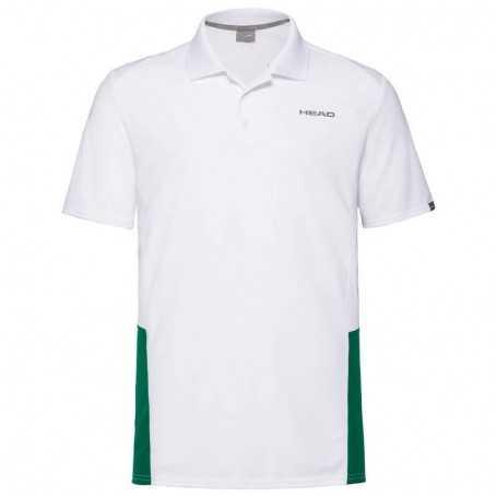 Head Club Tech Polo Shirt Herren weiss-grün