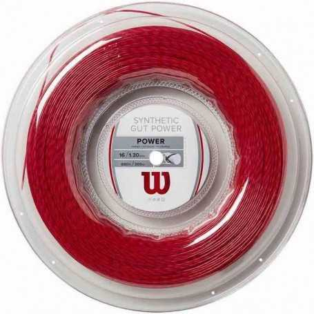Wilson Synthetic Gut Power Rolle 200m 1,30mm rot