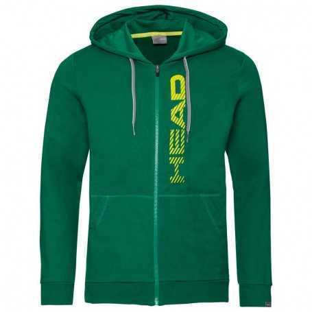 Head Club Fynn Hoodie FZ Herren grün-gelb