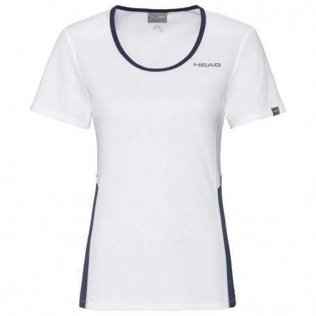 Head Club Tech T-Shirt Damen weiss-dunkelblau