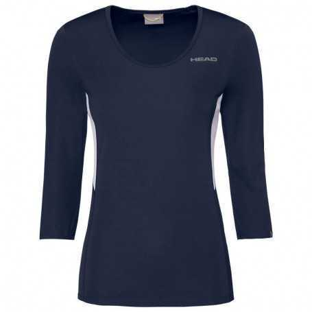 Head Club Tech 3/4 Shirt Damen dunkelblau
