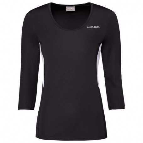 Head Club Tech 3/4 Shirt Damen schwarz