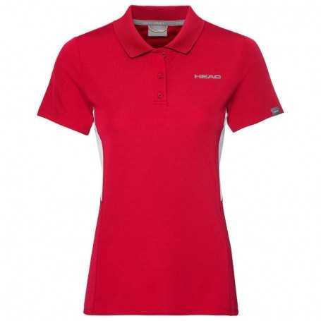 Head Club Tech Polo Shirt Damen rot