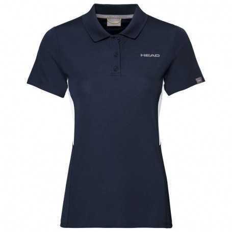 Head Club Tech Polo Shirt Damen dunkelblau