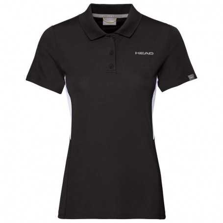 Head Club Tech Polo Shirt Damen schwarz