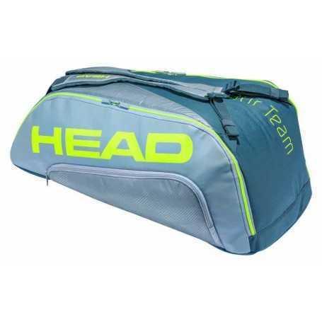 Head Tour Team Extreme 9R Supercombi Tennistasche grau-neongelb