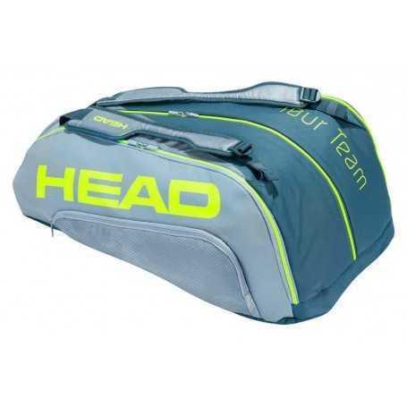 Head Tour Team Extreme 12R Monstercombi Tennistasche grau-neongelb