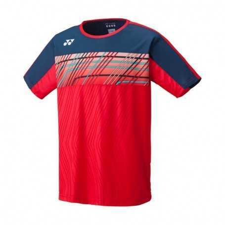 Yonex Herren Crew Neck T-Shirt rot-dunkelblau