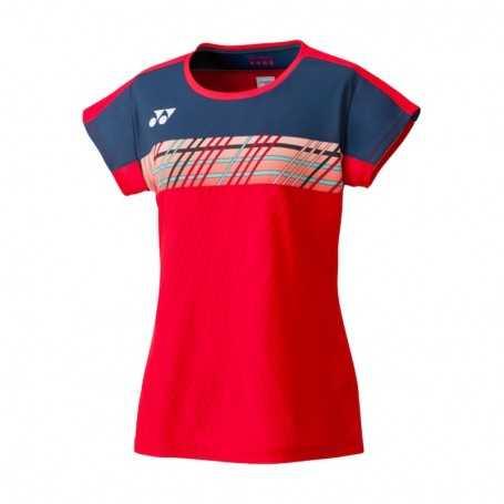 Yonex Damen T-Shirt rot-dunkelblau