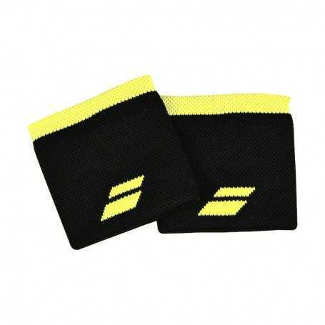 Babolat Schweissband kurz 2er schwarz-gelb
