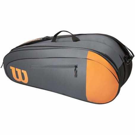 Wilson Team X6 Tennistasche grau-orange