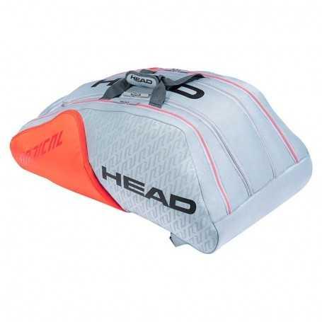 Head Radical 12R Monstercombi Tennistasche 2021 grau-orange