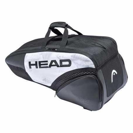 Head Djokovic 6R Combi Tennistasche 2021 weiss-schwarz