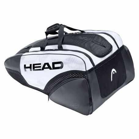 Head Djokovic 12R Monstercombi Tennistasche 2021 weiss-schwarz