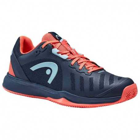 Head Sprint Team 3.0 Claycourt Damen Tennisschuhe 2021 dunkelblau-coral