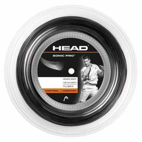 Head Sonic Pro Rolle 200m 1,25mm schwarz