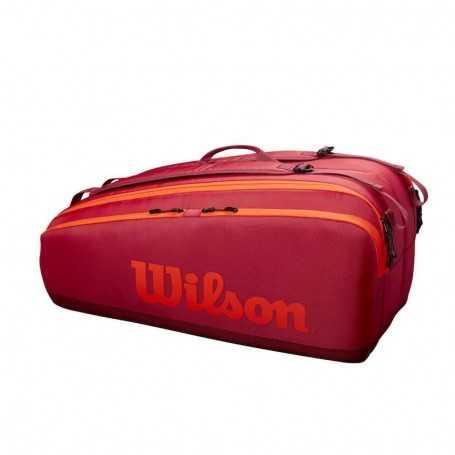 Wilson Tour 12PK Tennistasche 2021 rot-orange
