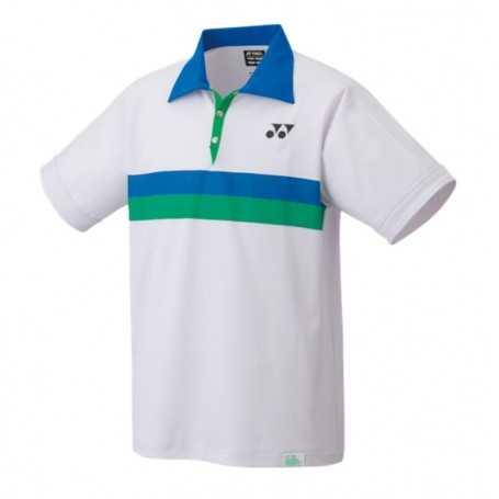 Yonex Herren 75th Polo T-Shirt (Slim-Fit) weiss-blau-grün