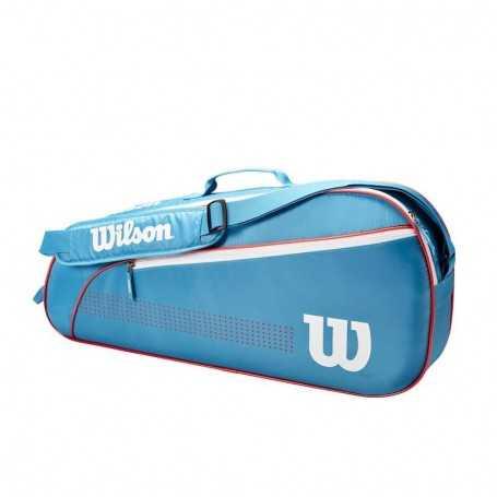 Wilson Junior 3er Tennistasche 2021 blau-weiss