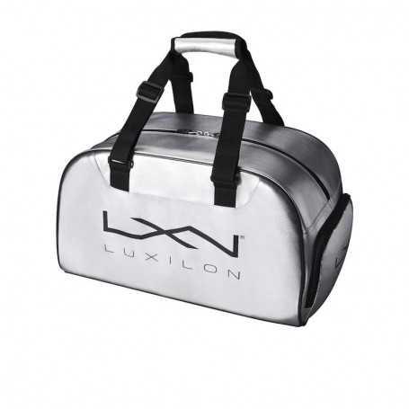 Luxilon Duffel Tennistasche silber-schwarz