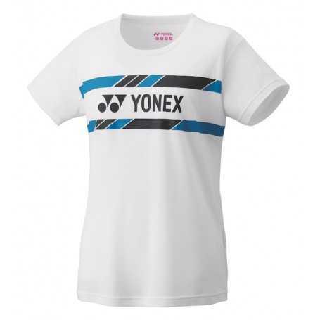 Yonex Damen T-Shirt weiss-blau-schwarz