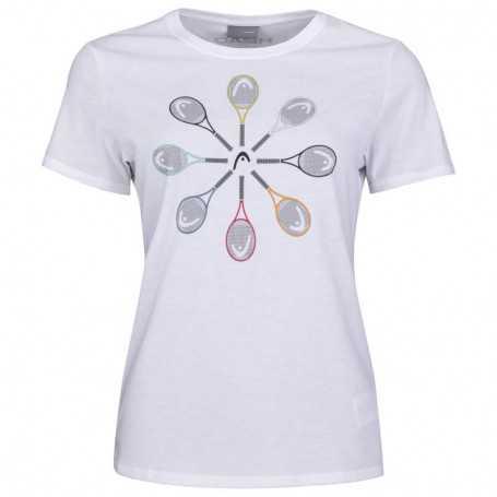 Head Vision Racquet T-Shirt Girls weiss