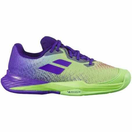 Babolat Jet Mach 3 Allcourt Junior Tennisschuhe 2021 violett-grün