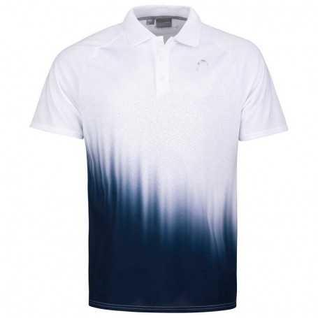 Head Performance Polo Shirt Herren weiss-dunkelblau
