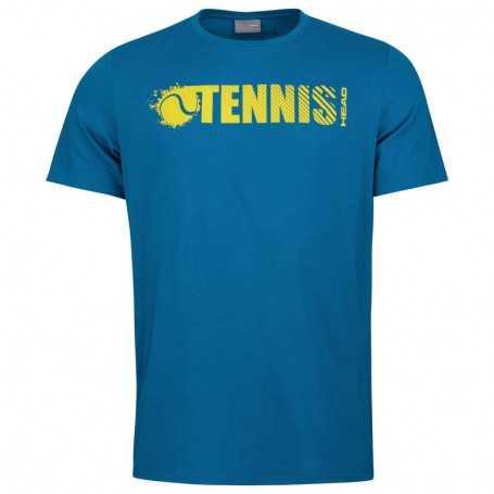 Head Font T-Shirt Herren blau