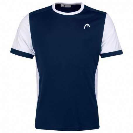 Head Davies T-Shirt Herren dunkelblau-weiss
